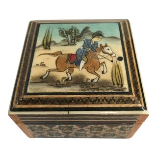 Persian Khatam Marquetry Box For Sale