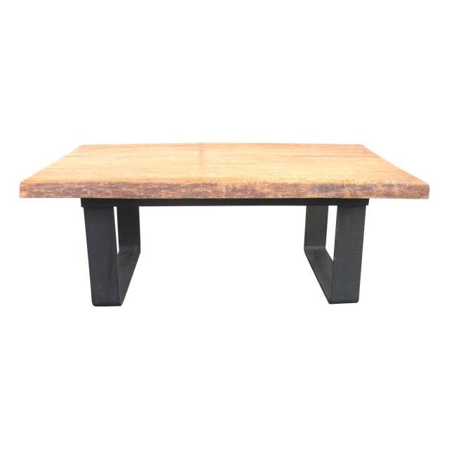 Minimalist Natural Wood Slab Coffee Table - Image 1 of 6