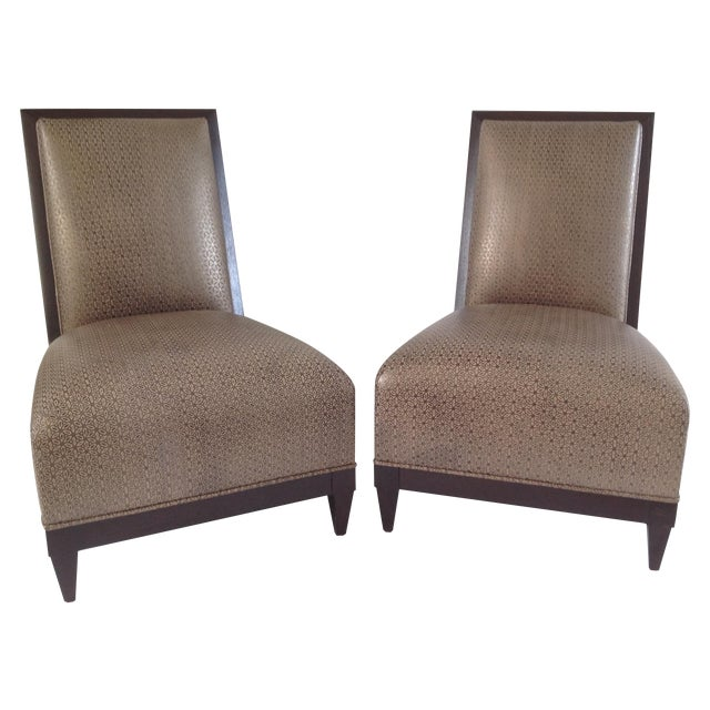 Donghia Panama Occasional Chairs - A Pair For Sale