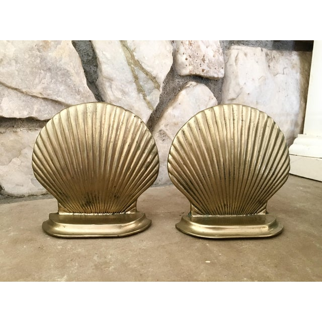Mid-Century Shell Bookends - a Pair - Image 2 of 4