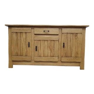Italian Rustic Solid Oak Sideboard For Sale
