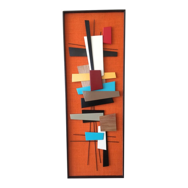 Mid-Century Modern Abstract Wall Sculpture Collage - Image 1 of 4