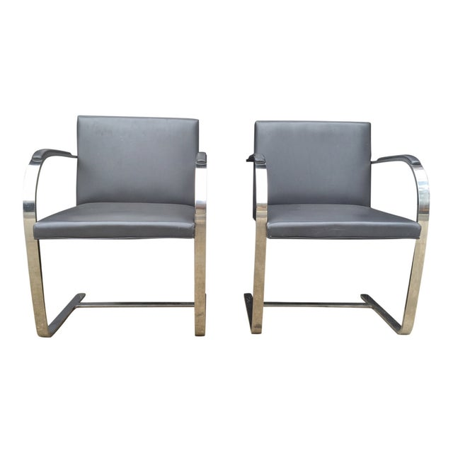 Vintage Mies Van Der Rohe Brno Chairs - A Pair - Image 2 of 6