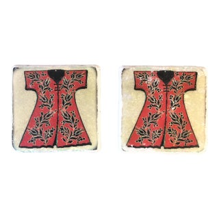 """The Sultan Kaftan"" Coasters -A Pair For Sale"