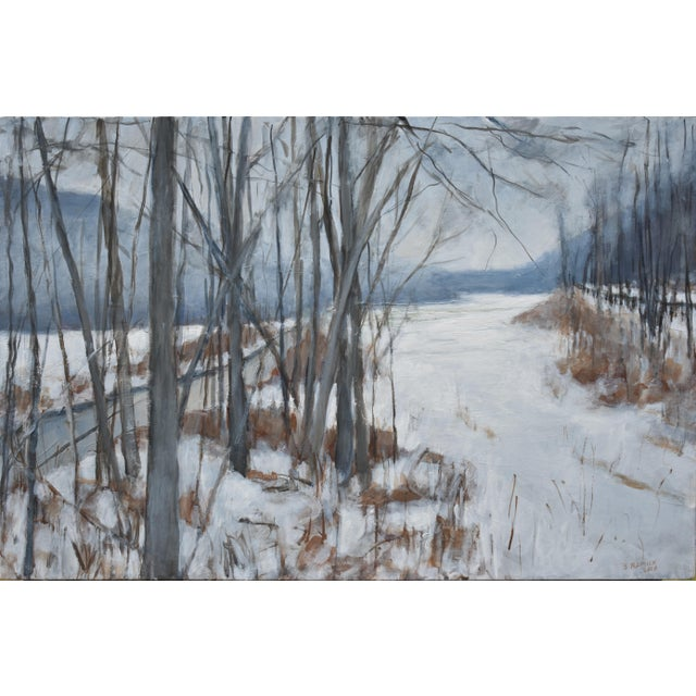 """River, Road, Field, Mountain"" Contemporary Landscape Painting by Stephen Remick For Sale"