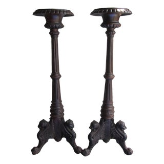Casa de Encanto Massive Artisan Forged Candle Stands