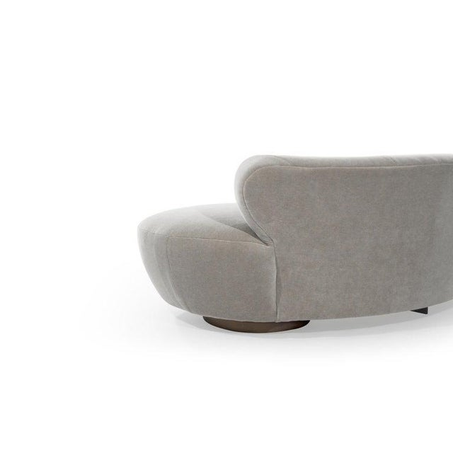Mohair Cloud Sofa on Walnut Bases by Vladimir Kagan for Directional For Sale - Image 12 of 13