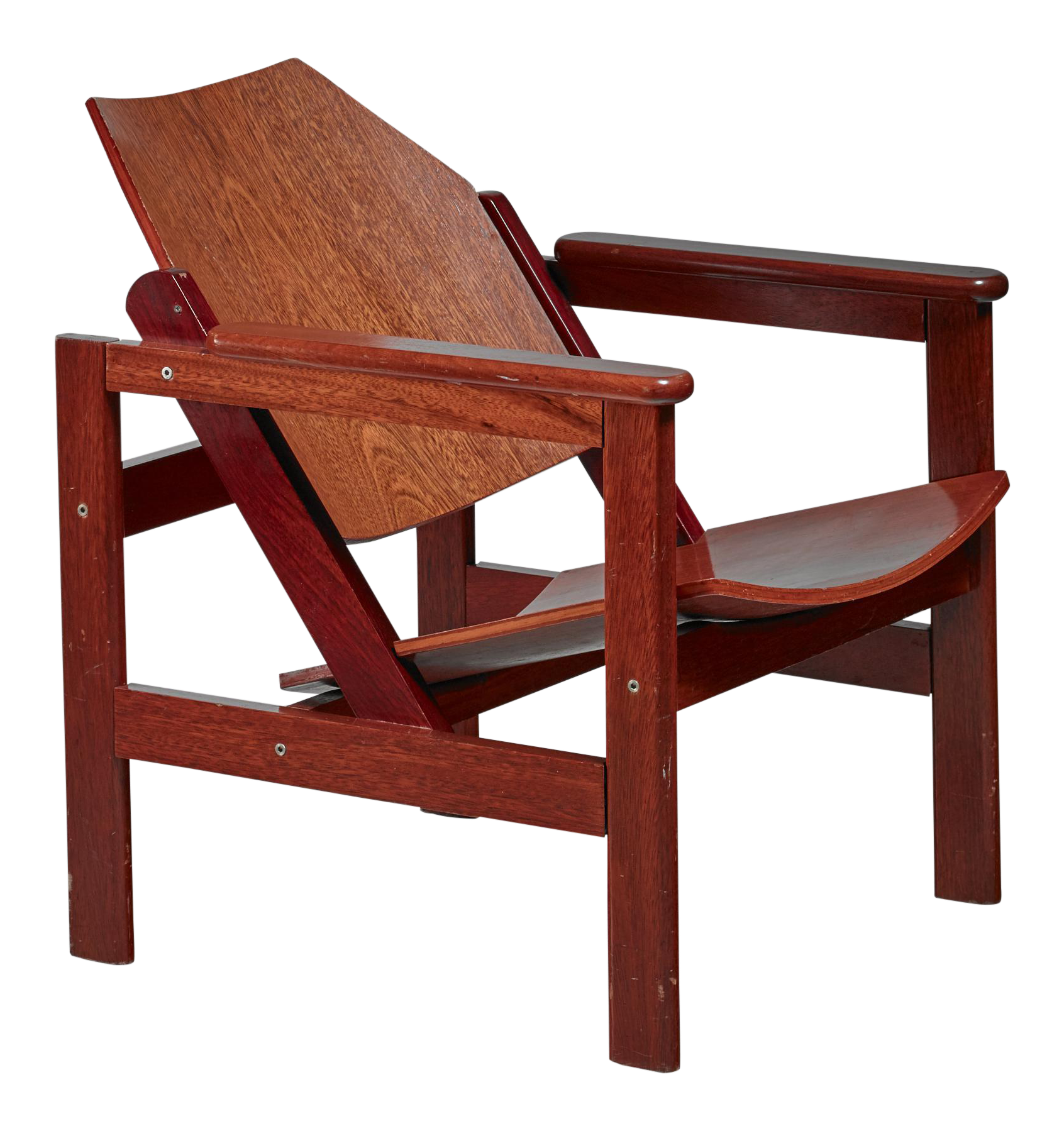 Michel Arnoult Wooden Armchair, Brazil, 1950s   Image 1 Of 5