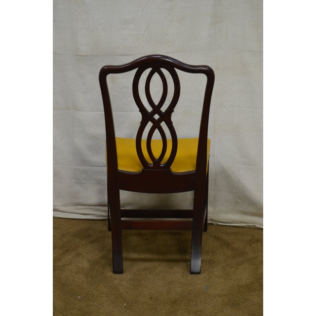 George III Chippendale Style Antique Mahogany Dining Chairs - Set of 8 For Sale - Image 4 of 13
