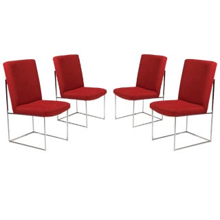 Set of Four Milo Baughman for Thayer Coggin Dining Chairs For Sale