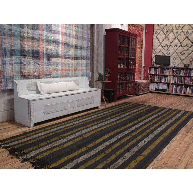 """A large tribal flat-weave by the Kurdish tribes of Southeastern Turkey, woven in the """"jajim"""" technique. (The length can..."""