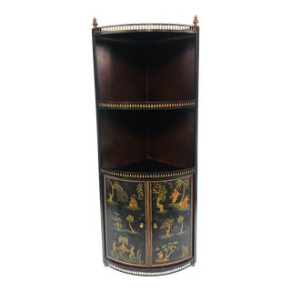 1960s Chinoiserie Italian Tole Wall Cabinet For Sale