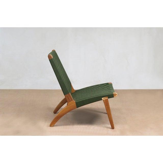 Mid-Century Modern Green Nylon Lounge Chair - Image 4 of 7