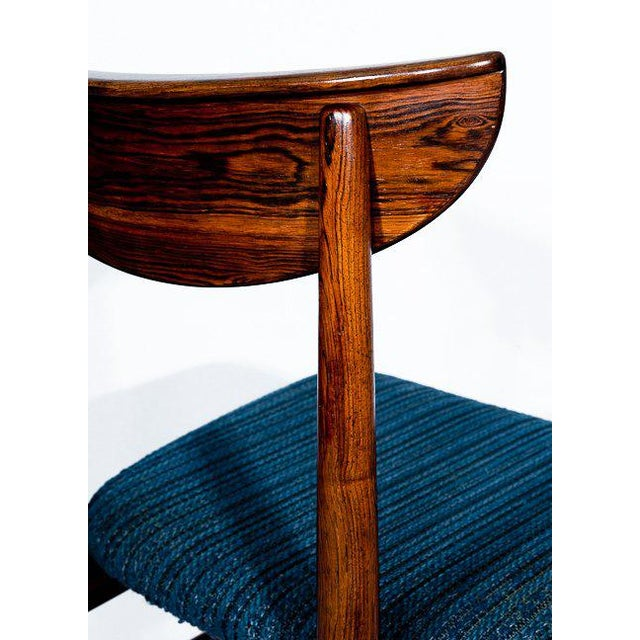 Wood Set Of 4 Rosewood Dining Chairs For Sale - Image 7 of 9
