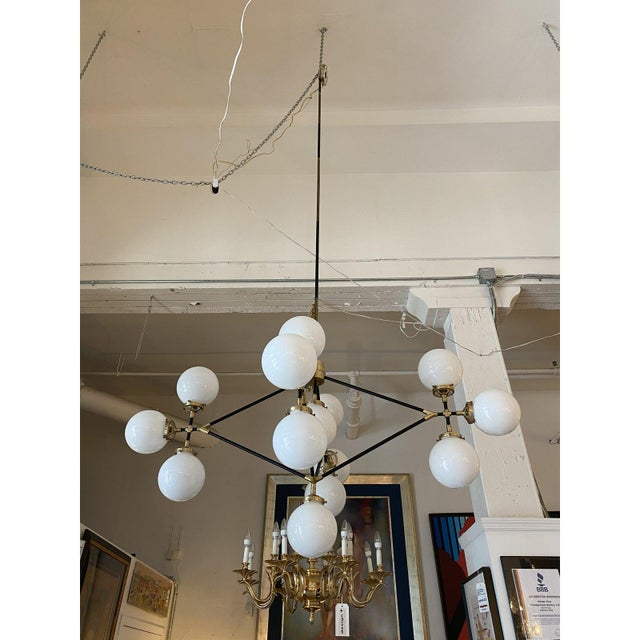 Visual Comfort Ian K. Fowler Bistro Four Arm Chandelier For Sale - Image 11 of 11