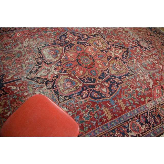 "Distressed Ahar Heriz Carpet - 8'2"" X 11'9"" - Image 8 of 10"