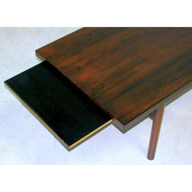 Modern Rosewood Coffee Table with Extending Top - Image 2 of 8