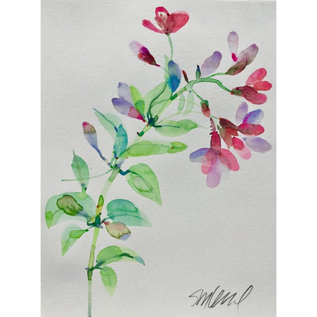 "Realism Botanical 41, Original Watercolor, 9x12"" For Sale - Image 3 of 3"