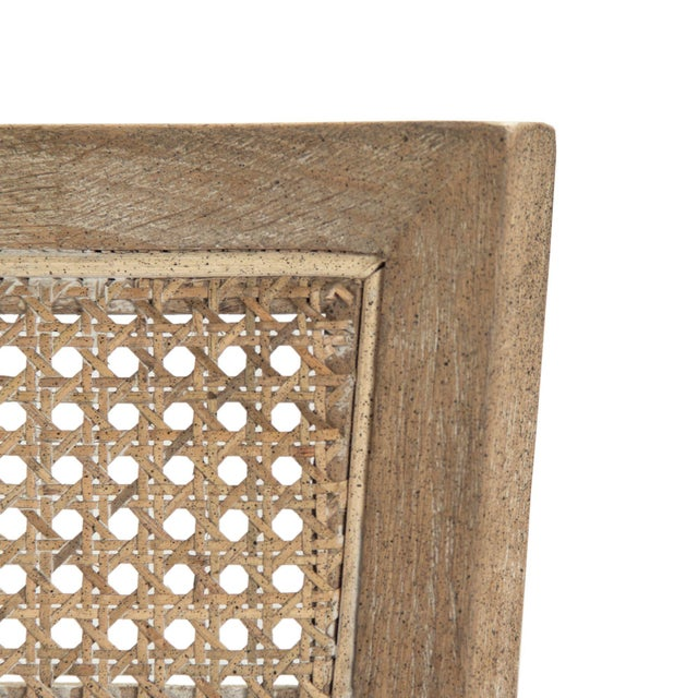 2020s Selborne Cane Back Bench in Cream For Sale - Image 5 of 6