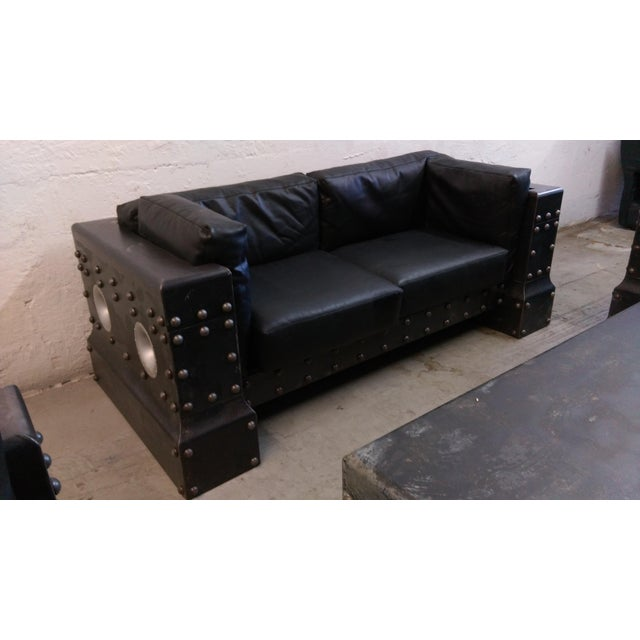 Phenomenal Oakley Industrial Man Cave Sofa Group Theyellowbook Wood Chair Design Ideas Theyellowbookinfo