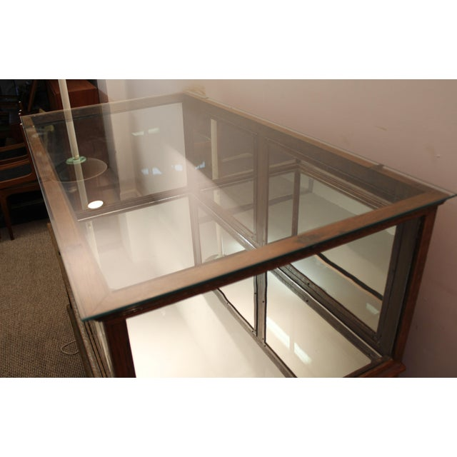 Antique Oak & Glass Mirrored Display Case - Image 11 of 11