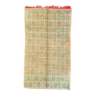 1970s Vintage Moroccan Azilal Rug-5′9″ × 9′12″ For Sale