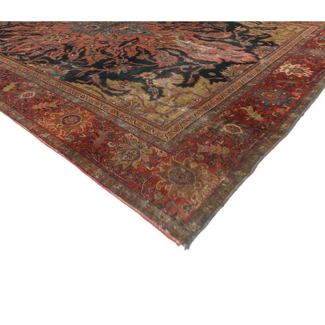 Antique Farahan Rug with Modern Industrial Style, Persian Area Rug For Sale In Dallas - Image 6 of 8