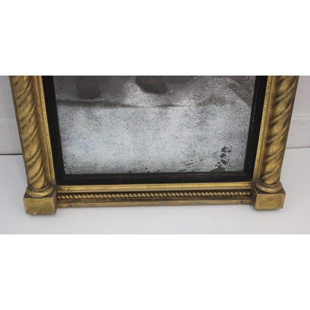 Wood Giltwood 1860s Carved Neoclassical Mirror For Sale - Image 7 of 13