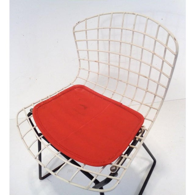 Black & White Harry Bertoia for Knoll Small Children's Chair For Sale - Image 9 of 12
