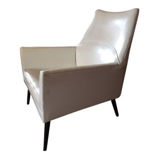 Mid Century Modern Paul McCobb Vinyl Squirm Lounge Chair For Sale