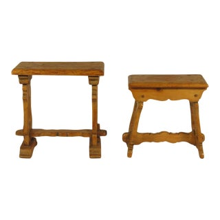 19th Century Scandanavian Stools - a Pair For Sale
