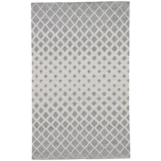 Jaipur Living Winipeg Indoor Outdoor Geometric Gray White Area Rug