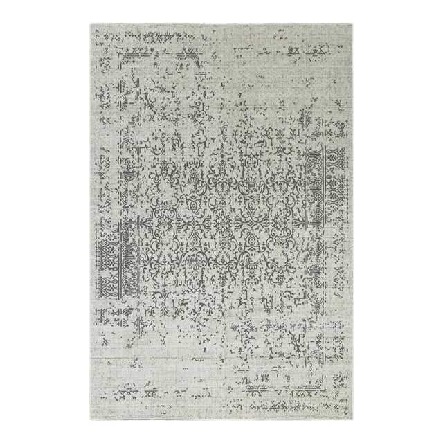 "Distressed Turkish Gray Rug - 8' x 10'7"" - Image 1 of 5"
