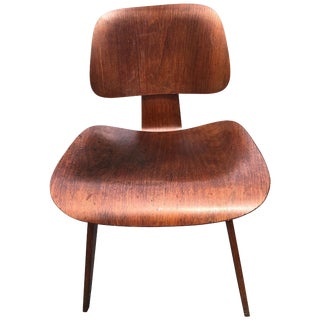 """Charles and Ray Eames for Herman Miller Dcw """"Dining Chair"""" Walnut 1950 For Sale"""