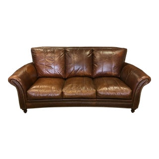 Top Grain Leather Sofa For Sale