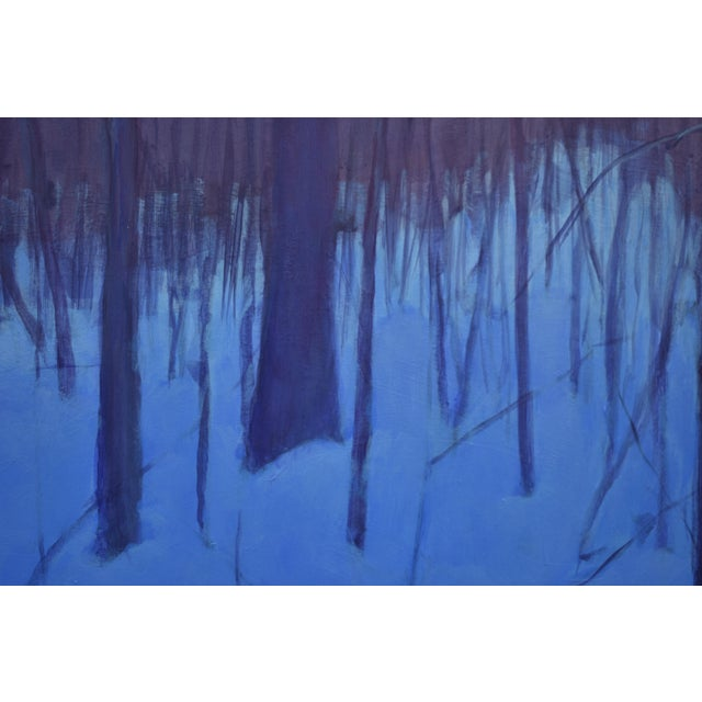 """Stephen Remick """"Nightfall in Deer Hollow"""" Contemporary Expressionist Landscape Painting For Sale In Providence - Image 6 of 12"""