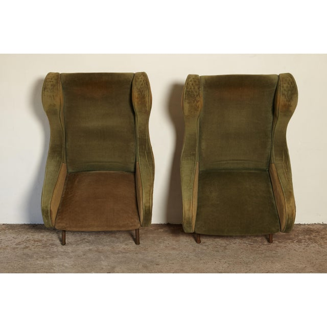 1960s Vintage Arflex Marco Zanuso Senior Chairs - a Pair For Sale - Image 9 of 10