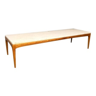 Mid Century Modern Marble Top Coffee Table For Sale