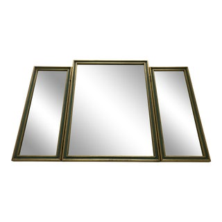 1930s Vintage Tri Fold Dressing Make Up Table Mirror For Sale