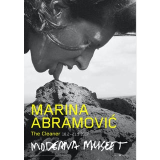 Marina Abramovic the Cleaner (Stromboli III Volcano) Museum Poster For Sale