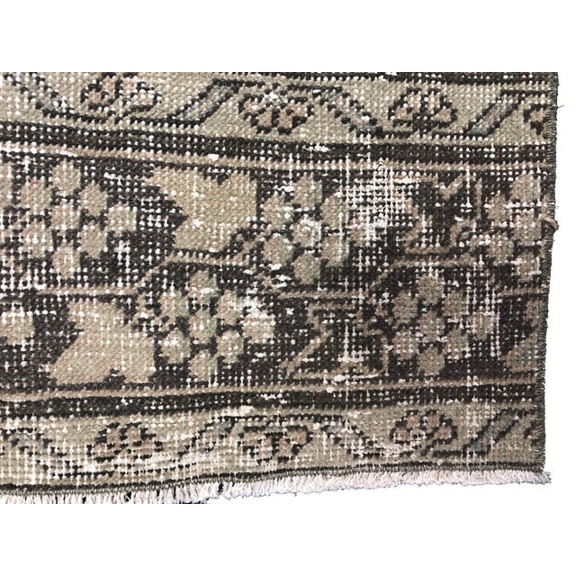Contemporary Oushak Handknotted Tribal Runner Rug - 2′9″ × 11′4″ For Sale - Image 3 of 8
