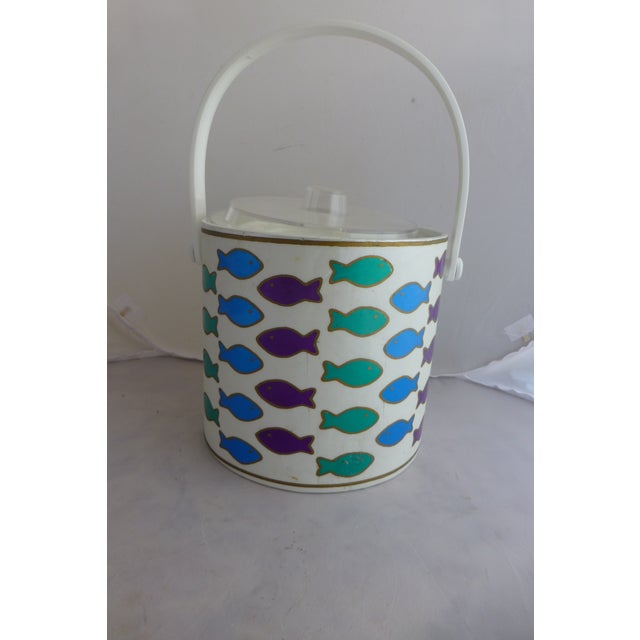 Mid-Century Ice Bucket With Colorful Fish - Image 8 of 8