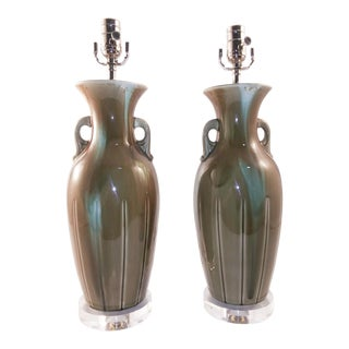 1960s Electrified European Vases - a Pair For Sale