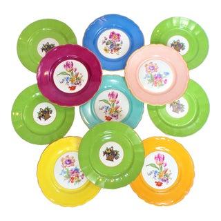 Vintage Richard Ginori and T&v Limoges Porcelain Plates - Set of 11