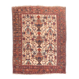 Antique Rust Persian Afshar Area Rug For Sale