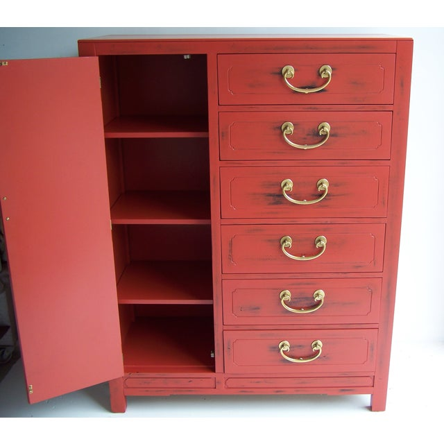 White Furniture Co. 1970 Red Dresser - Image 3 of 5