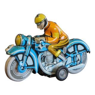 Vintage Tin Toy Motorcycle