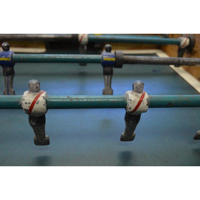 1940s Foosball Game Sports Table From Italy on Handmade Wooden Base; Mid Century For Sale - Image 5 of 13