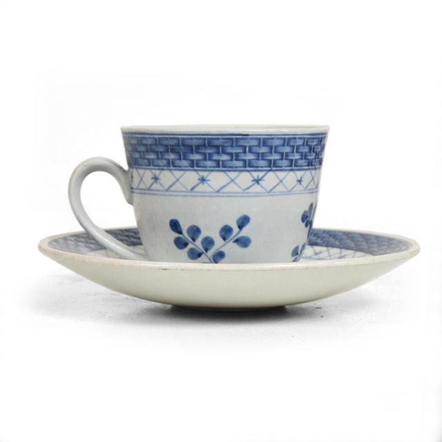 Mid Century Danish Modern Coffee Tea Cup & Plate Set for (12) Twelve Person, Royal of Copenhagen Era For Sale - Image 11 of 11
