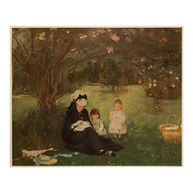 """1951 After Berthe Morisot """"The Lilac in Maurecourt"""", First Edition Impressionist Parisian Lithograph For Sale"""